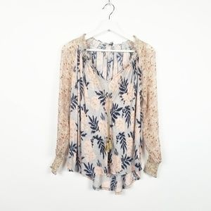 Lucky Brand I New Peasant Top with Tassel